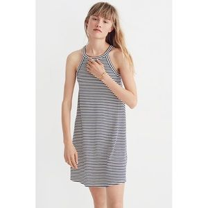 MADEWELL District Dress in Navy Stripe